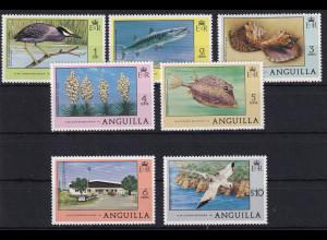 Anguilla 1977 Mi.-Nr. 273-279 Satz postfrisch ** / MNH Freimarken