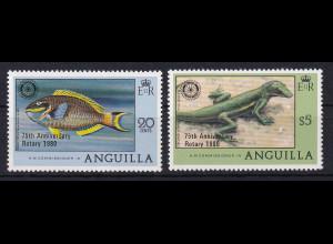 Anguilla 1980 Mi.-Nr. 387-388 Satz postfrisch ** / MNH Tiere