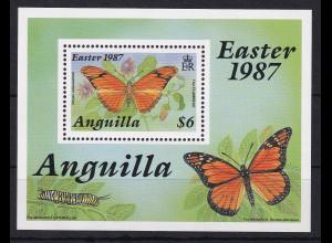 Anguilla 1987 Mi.-Nr. Block 75 postfrisch ** / MNH Schmetterling