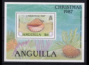 Anguilla 1987 Mi.-Nr. Block 78 postfrisch ** / MNH Weihnachten 1987, Muschel