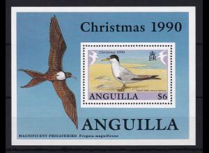 Anguilla 1990 Mi.-Nr. Block 87 postfrisch ** / MNH Weihnachten 1990, Seeschwalbe