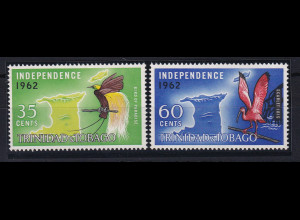 Trinidad & Tobago 1962 Mi.-Nr. 192 - 193 postfrisch ** / MNH Vögel