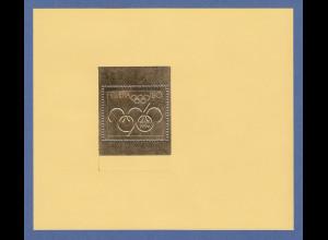 Schweiz Vignetten Block im Golddruck 100 Jahre Olympische Spiele 1896-1996