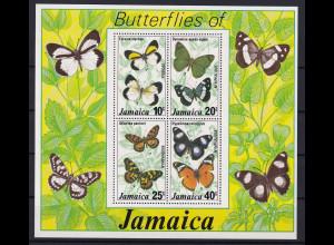 Jamaika 1977 Mi.-Nr. Block 11 postfrisch ** / MNH Schmetterlinge