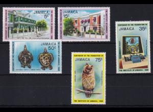 Jamaika 1980 Mi.-Nr. 482 - 486 postfrisch ** / MNH Institute of Jamaica / Eule