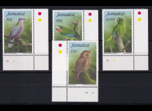 Jamaika 1995 Mi.-Nr. 852 - 855 postfrisch ** / MNH Vögel