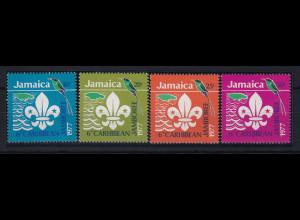 Jamaika 1977 Mi.-Nr. 427 - 430 postfrisch ** / MNH Pfadfinder