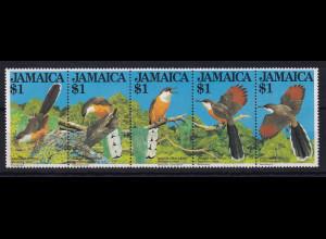 Jamaika Mi.-Nr. 550 - 554 postfrisch ** / MNH Kuckuck