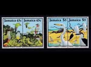 Jamaika 1988 Mi.-Nr. 687 - 690 postfrisch ** / MNH Vögel