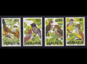 Jamaika 1986 Mi.-Nr. 624 - 627 postfrisch ** / MNH Vögel