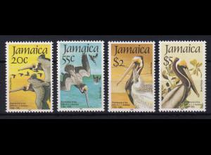 Jamaika 1985 Mi.-Nr. 603 - 606 postfrisch ** / MNH Pelikan
