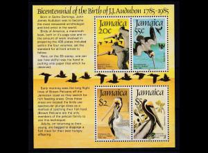 Jamaika 1985 Mi.-Nr. Block 25 postfrisch ** / MNH Pelikan