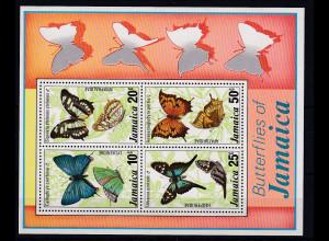 Jamaika 1978 Mi.-Nr. Block 13 postfrisch ** / MNH Schmetterlinge