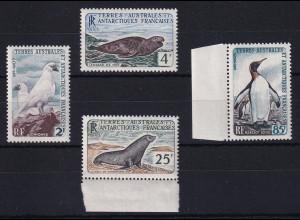 Französische Antarktis 1960 Mi.-Nr. 19-22 postfrisch ** / MNH Tiere
