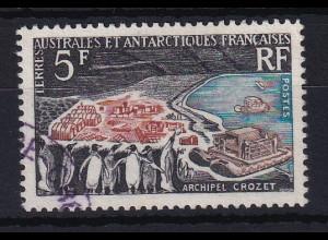 Französische Antarktis 1963 Mi.-Nr. 28 postfrisch ** / MNH Pinguine vor Dorf