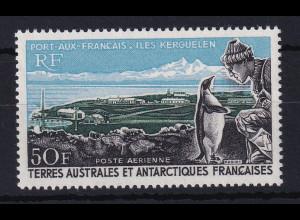 Französische Antarktis 1968 Mi.-Nr. 40 postfrisch ** / MNH Pinguin