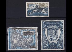Französische Antarktis Mi.-Nr. 52-54 postfrisch ** / MNH Verschiedene Motive