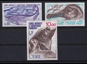 Französische Antarktis Mi.-Nr. 117-119 postfrisch ** / MNH Tiere