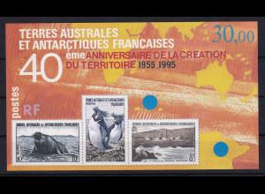 Französische Antarktis 1995 Mi.-Nr. Block 2 postfrisch ** / MNH Tiere