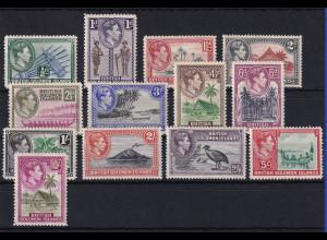 Solomon Inseln 1939 Mi.-Nr. 59-71 meist postfrisch ** / MNH Verschiedene Motive