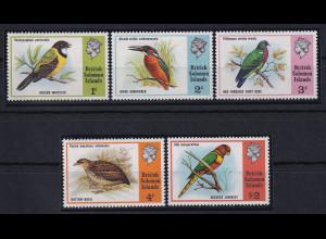 Solomon Islands 1975 Mi.-Nr. 267-271 postfrisch ** / MNH Vögel