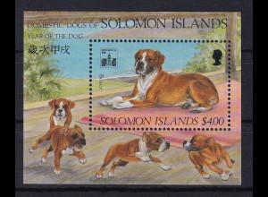 Solomon Islands 1994 Mi.-Nr. Block 37 postfrisch ** / MNH Hunde