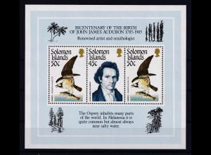 Solomon Islands 1985 Mi.-Nr. Block 18 postfrisch ** / MNH Fischadler