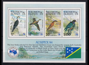 Solomon Islands 1984 Mi.-Nr. Block 15 postfrisch ** / MNH Vögel