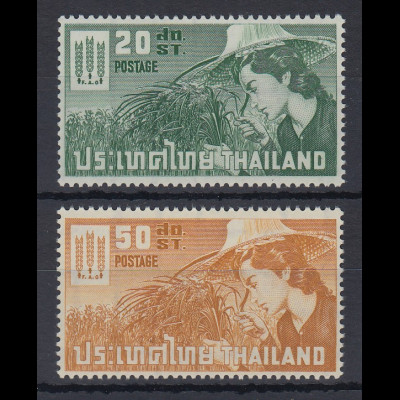 Thailand 1963 Kampf gegen den Hunger Satz Mi.-Nr. 404-05 ** / MNH
