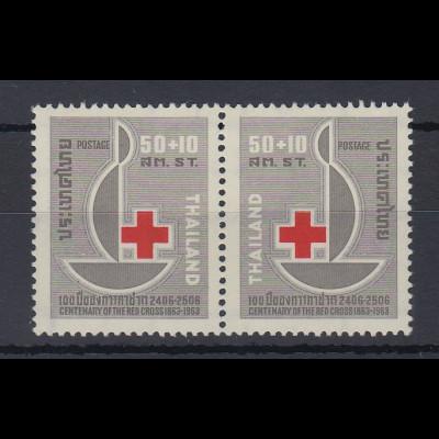 Thailand 1963 100 Jahre Rotes Kreuz Satz Mi.-Nr. 407-08 ** / MNH