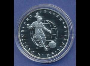 10-€-Gedenkmünze PP, Frauenfussball-WM 2011, Polierte Platte, Spiegelglanz