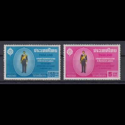 Thailand 1963 36. Geburtstag König Bhumibol Satz Mi.-Nr. 435-36 ** / MNH