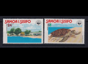 Samoa I Sisifo 1978 Mi.-Nr. 370-71 postfrisch ** / MNH WWF Karretschildkröte