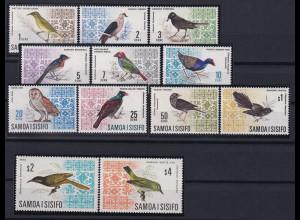 Samoa I Sisifo 1967/69 Mi.-Nr. 152-161, 199-200 postfrisch ** / MNH Vögel