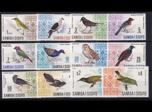 Samoa I Sisifo 1967/69 Mi.-Nr. 152-161, 199-200 ungebraucht */ MLH Vögel