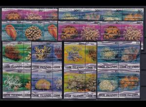 Cook Islands Mi.-Nr. 691-762 postfrisch kpl. Satz 72 Werte ! ** / MNH Korallen