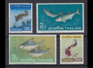 Thailand 1967 Einheimische Fische Satz Mi.-Nr. 480-83 ** / MNH