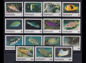 Vanuatu 1987 Mi.-Nr. 754-768 postfrisch **/ MNH Fische