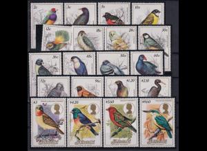 Aitutaki Mi.-Nr. 505-524 postfrisch **/ MNH Vögel