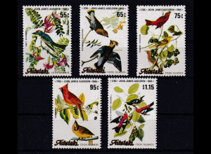 Aitutaki Mi.-Nr. 554-558 postfrisch **/ MNH Vögel