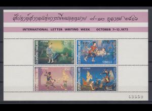 Thailand 1973 Internationale Briefwoche: Gemälde Mi.-Nr. Block 3 ** / MNH