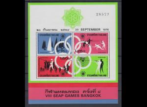 Thailand 1975 Südostasiatische Sportspiele Bangkok Mi.-Nr. Block 7 ** / MNH