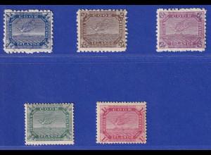 Cook Islands ca. 1898-1810 Feensesschwalbe Lot 5 Werte ungebraucht