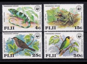 Fidschi-Inseln 1979 Mi.-Nr. 387-390 postfrisch **/ MNH Gefährdete Tierarten