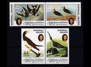 Marshall-Islands 1985 Mi.-Nr.31-34 postfrisch **/ MNH Vögel