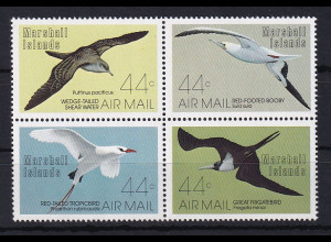 Marshall-Islands 1987 Mi.-Nr.105-108 postfrisch **/ MNH Vögel