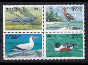 Marshall-Islands 1988 Mi.-Nr.146-149 postfrisch **/ MNH Vögel