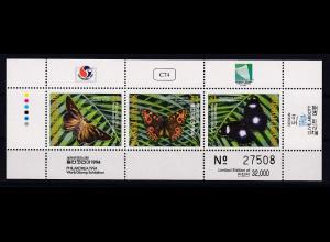 Marshall-Islands 1994 Mi.-Nr. 544-546 postfrisch **/ MNH Schmetterlinge