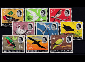 Pitcairn Islands Mi.-Nr. 42-50 postfrisch **/ MNH Teilsatz Vögel