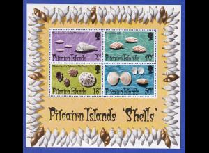Pitcairn Islands Mi.-Nr. Block 1 postfrisch **/ MNH Muscheln
